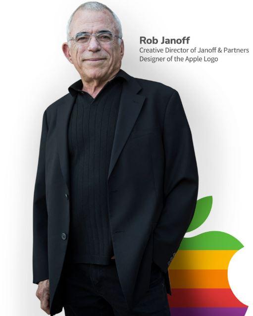 ロゴの形を、かじられたリンゴの形に変更
