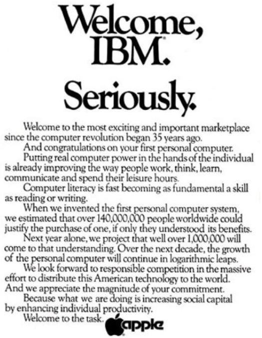 アップルとIBMの競争は本格化