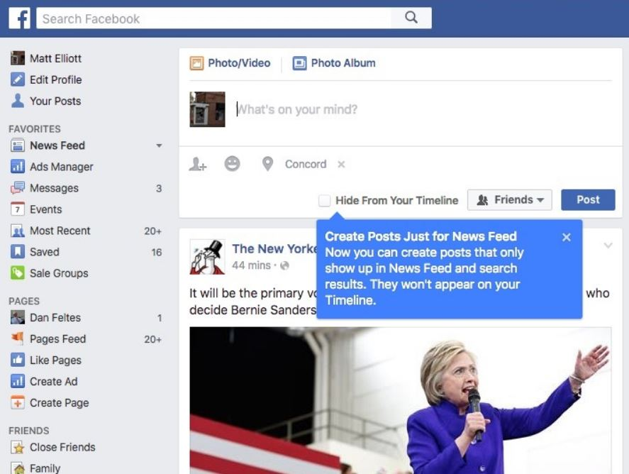 Facebookに「NewsFeed」と「MiniFeed」機能を追加