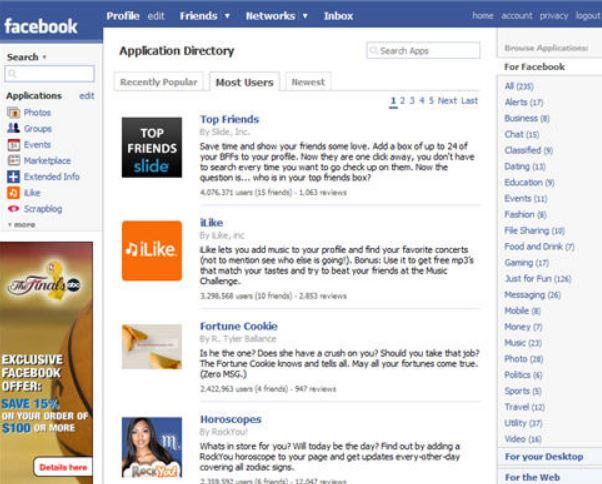 FacebookPlatformを公開
