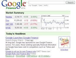 GoogleFinanceのサービス提供開始