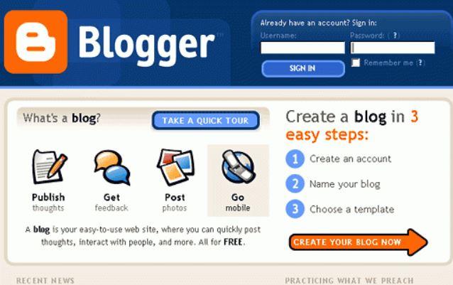 Bloggerスタート