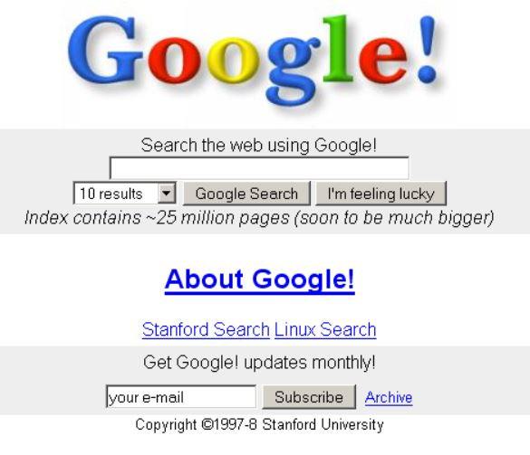 検索エンジン「BackRub」をGoogleに改名