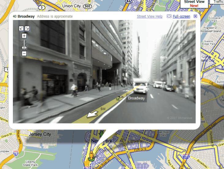 Googleマップストリートビューが公開