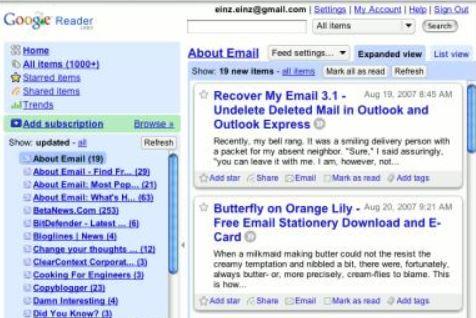 GoogleReader正式リリース