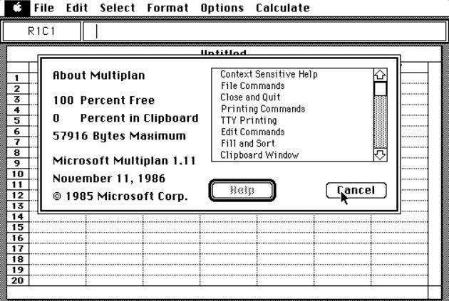 表計算ソフトMicrosoftMultiplan(マイクロソフトマルチプラン)発表
