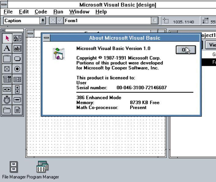 MicrosoftVisualBasicを発表