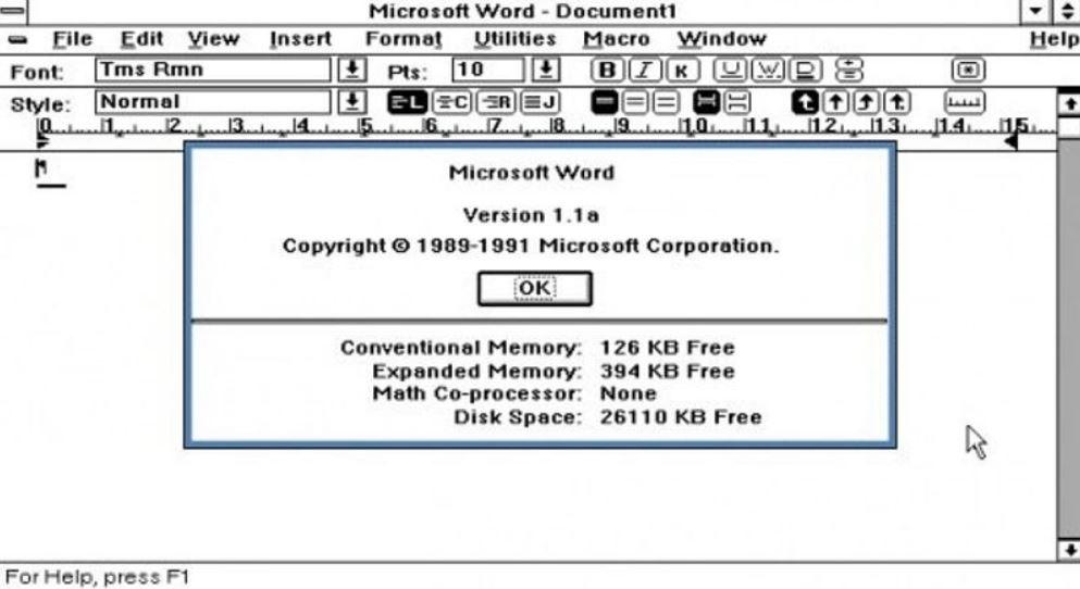 MicrosoftWord(Multi-ToolWord)発売