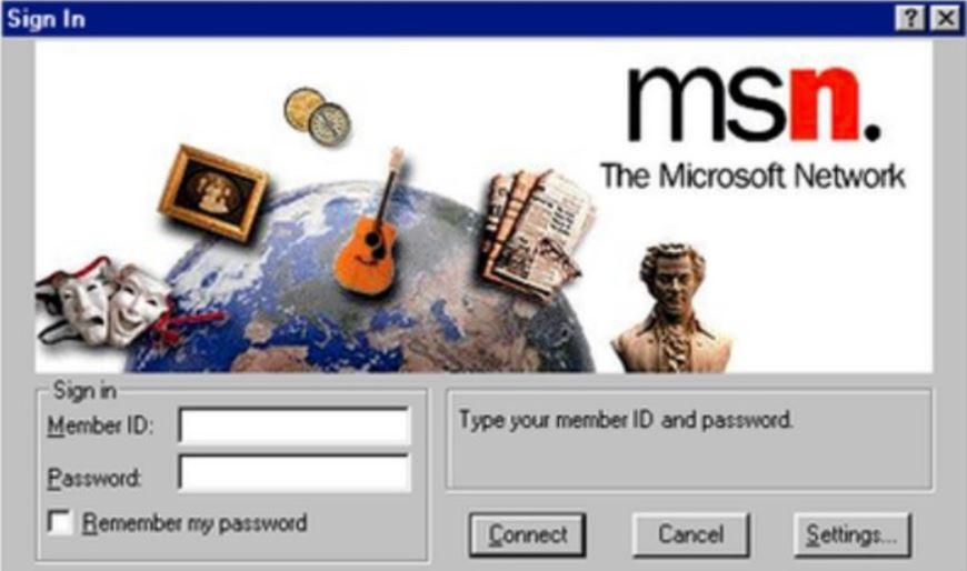 オンラインサービスMSN(MicrosoftNetwork)開始