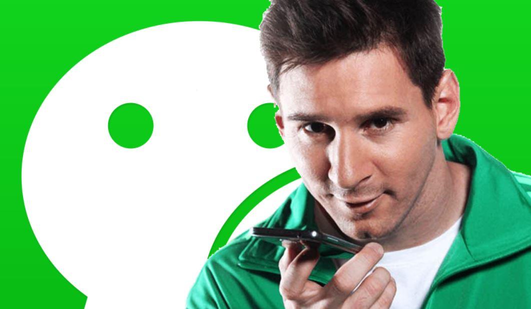 WeChatのイメージキャラクターに、FCバルセロナサッカー選手メッシ起用