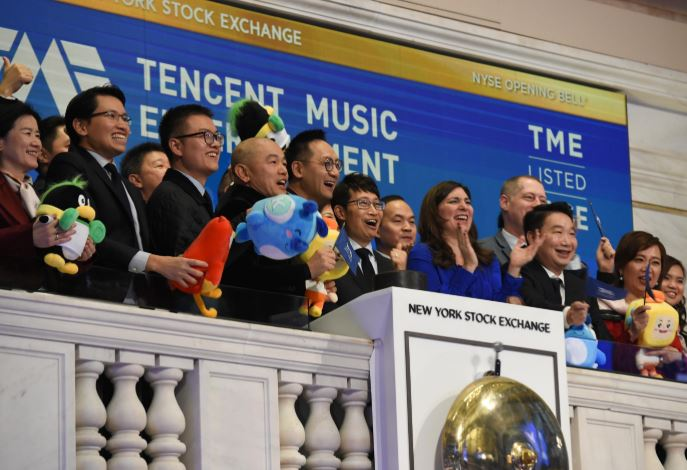 テンセント・ミュージックがNYSEに株式を上場